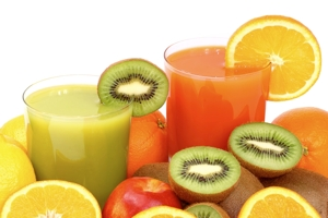 preapring fruits & veggies for juicing